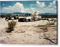 Desert Cars Acrylic Print