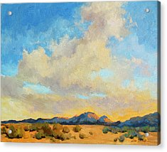 Desert Clouds Acrylic Print by Diane McClary