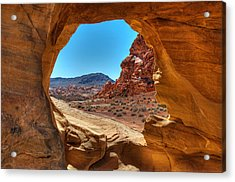 Desert Crevice Acrylic Print