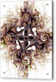 Desert Cross Acrylic Print by Anastasiya Malakhova