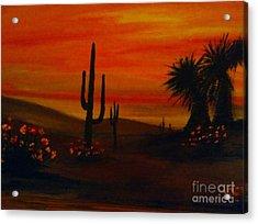 Desert Dance Acrylic Print by Becky Lupe