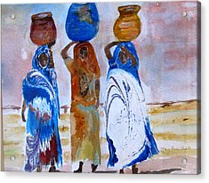 Acrylic Print featuring the painting Desert Diva's 3 by MaryAnne Ardito