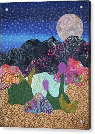 Acrylic Print featuring the tapestry - textile Desert Dreaming by Ellen Levinson