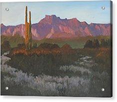 Desert Sunset Glow Acrylic Print