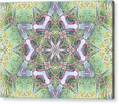 Desert Flower Mandala Acrylic Print