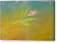 Acrylic Print featuring the painting Desert Flower by Mike Breau