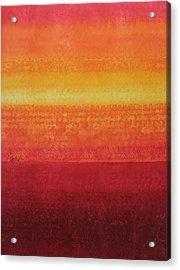 Desert Horizon Original Painting Acrylic Print