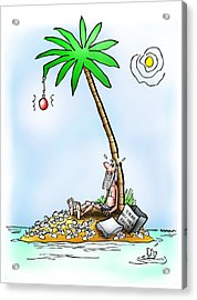 Desert Island Christmas Acrylic Print