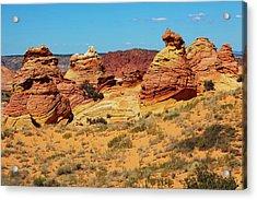 Desert Landscape Acrylic Print by Lucynakoch