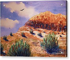 Desert Mesa Acrylic Print