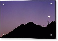 Desert Moonrise  Acrylic Print by Lin Haring
