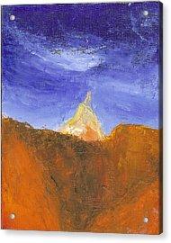 Desert Mountain Canyon Acrylic Print