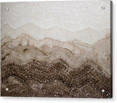 Desert Mountain Mist Original Painting Acrylic Print