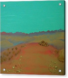 Acrylic Print featuring the painting Desert Overlook by Keith Thue