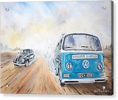 Desert Race. Acrylic Print