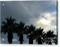 Desert Rainbow Acrylic Print by Deborah Smolinske