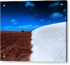 Acrylic Print featuring the photograph Desert Sand And Sky by Julian Cook