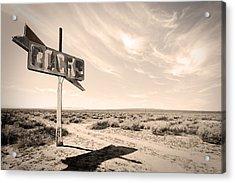 Desert Sign Acrylic Print by Rick Rhay