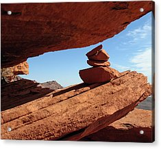 Acrylic Print featuring the photograph Desert Signpost by Alan Socolik