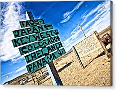 Desert Signs Acrylic Print by Shanna Gillette