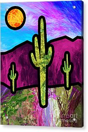 Desert Stained Glass Acrylic Print