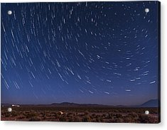 Desert Star Trails Acrylic Print by Cat Connor