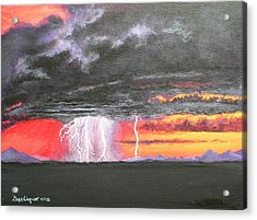 Acrylic Print featuring the painting Desert Storm by Dan Wagner