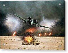Desert Storm Fury Acrylic Print by Peter Chilelli