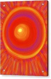Desert Sunburst Acrylic Print by Daina White