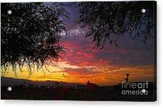 Acrylic Print featuring the photograph Desert Sunrise by Chris Tarpening