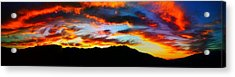 Acrylic Print featuring the photograph Desert Sunset 15 by Chris Tarpening