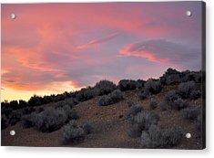 Acrylic Print featuring the photograph Desert Sunset by AJ  Schibig