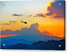 Desert Sunset Acrylic Print by Amanda Miles