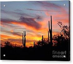 Desert Sunset Acrylic Print by Joseph Baril
