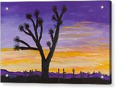 Desert Sunset Acrylic Print by Margaret Pappas
