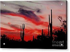 Desert Sunset Northern Lights Version 3 Acrylic Print