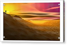 Acrylic Print featuring the digital art Desert Sunset by Tyler Robbins