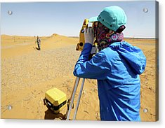 Desert Surveying Acrylic Print by Thierry Berrod, Mona Lisa Production