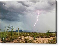 Desert Thunderstorm Acrylic Print by Roger Hill