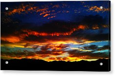 Acrylic Print featuring the photograph Desert Winter Sunset  by Chris Tarpening