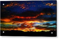 Desert Winter Sunset  Acrylic Print by Chris Tarpening