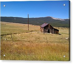 Acrylic Print featuring the photograph Deserted Cabin by Fortunate Findings Shirley Dickerson