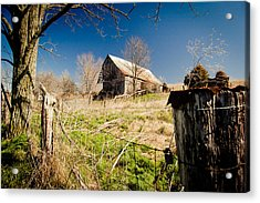 Deserted Farm Acrylic Print by Karen Varnas
