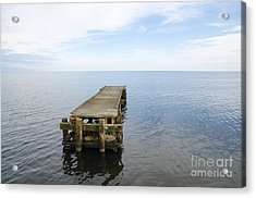 Deserted Jetty Acrylic Print
