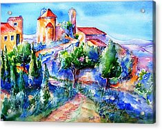 Deserted Village Of Perillos  Acrylic Print by Trudi Doyle