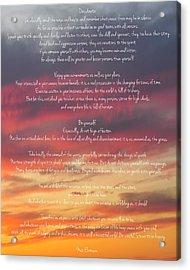 Desiderata Sky 2 Acrylic Print by Terry DeLuco