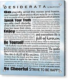 Desiderata - Square Sky Acrylic Print