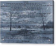 Desiderata Winter Scene Acrylic Print