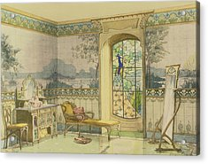 Design For A Bathroom, From Interieurs Acrylic Print by Georges Remon