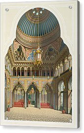Design For The Entrance Hall Acrylic Print by Karl Ludwig Wilhelm Zanth